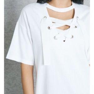 Topshop lace-up dress